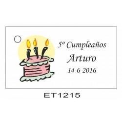 Etiqueta cumpleaños