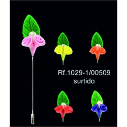 alfiler de fimo doble flor