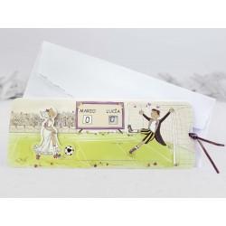 Invitación de boda futbol