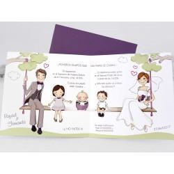 Invitación de boda con hijos