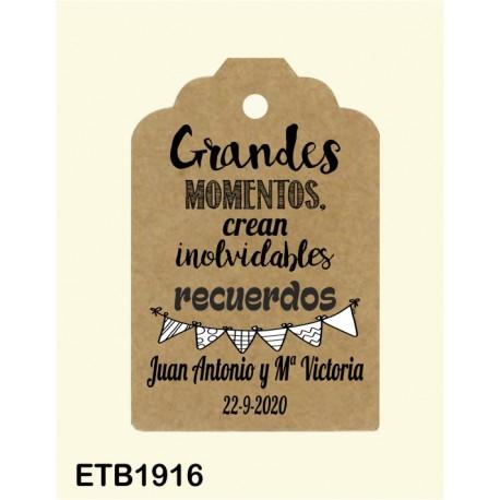 Etiqueta colgante etb1916