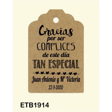 Etiqueta colgante etb1914