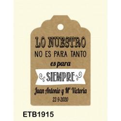 Etiqueta colgante etb1915