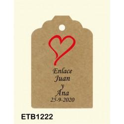 Etiqueta colgante etb1222