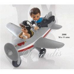 Novios en Avión