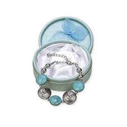 Pulsera perlas blancas