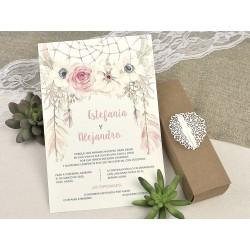 Invitación tipo caja caramelo