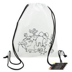 mochila para colorear niños