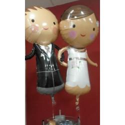 globos pareja novios
