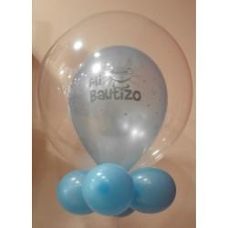 Globo bubble mi bautizo