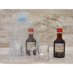 Vino licor dulce 50ml + Jarrita de plástico y bolsa de organza.