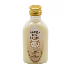 Licor arroz con leche en botella petaca 50ml.