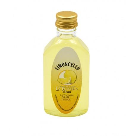 Licor Limoncello en botella petaca 50ml.