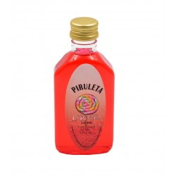Licor piruleta en botella petaca 50ml.