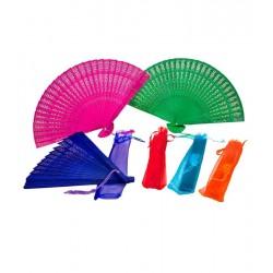 abanico sándalo surtido en colores con bolsa