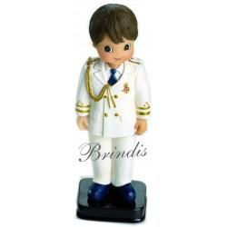 Niño comunión almirante casaca traje todo blanco 15 cm
