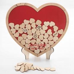 Corazón deseos grabado