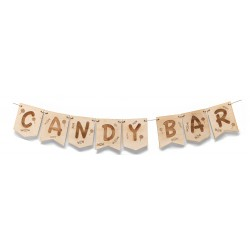 guirnalda madera candy bar