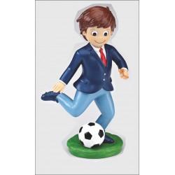 Niño comunión futbol 17cm