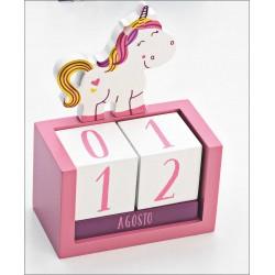 Calendario perpetuo unicornio simpático