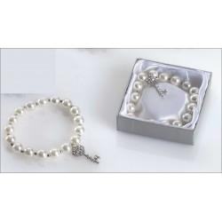 Pulsera perlas abalorio llave