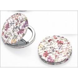 Espejo metal flores