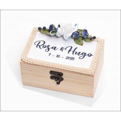 caja para arras bordada