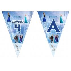 Banderín guirnalda Frozen Personalizada