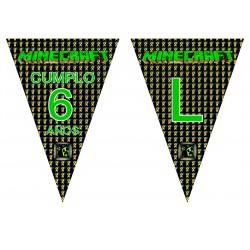 Banderín guirnalda Minecraft Personalizada