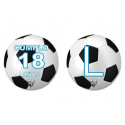 Banderín guirnalda Balón fútbol Málaga Personalizada