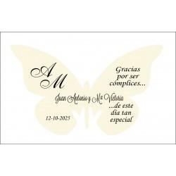 mariposa agradecimiento papel marfil