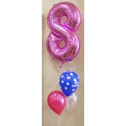 Composición de globos personalizado